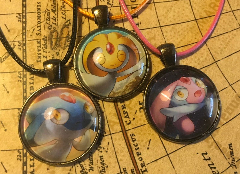 Azelf  Uxie  Mesprit Pokemon Necklace