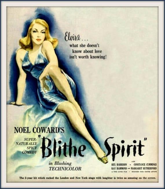 Blithe Spirit Noel Coward Constance Cummings 1945 Movie   Etsy