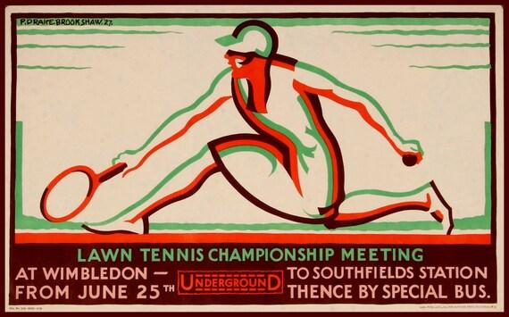 Art Print Wimbledon Tennis Womens 1927 Poster Print 8 x 10