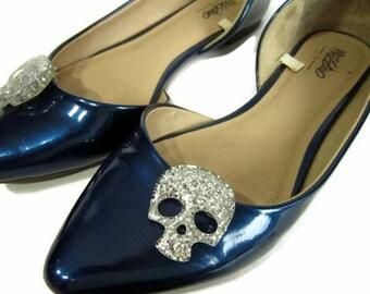 0ede043c8 Silver Skull Shoe Clips