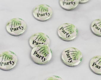 Palm Springs Mini Hen Party Badges - Pink or White - Quirky & Handmade - Classy Alternative Bacherlorette Party Accessories