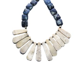 Jasper fan necklace // Jasper Necklace // Bold necklace // Statement Necklace // Gift for her