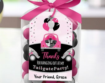 Tailgate Birthday Thank You Tag, Social Distancing Quarantine Party, Sweet 16, Edit Online + Download Today With Free Corjl.com 1020A