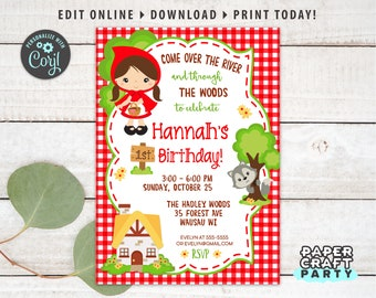 Classic Storybook Characters Corjl Editable Template Whimsical First Birthday Thank You Card Printable Fairytale Thank You Card
