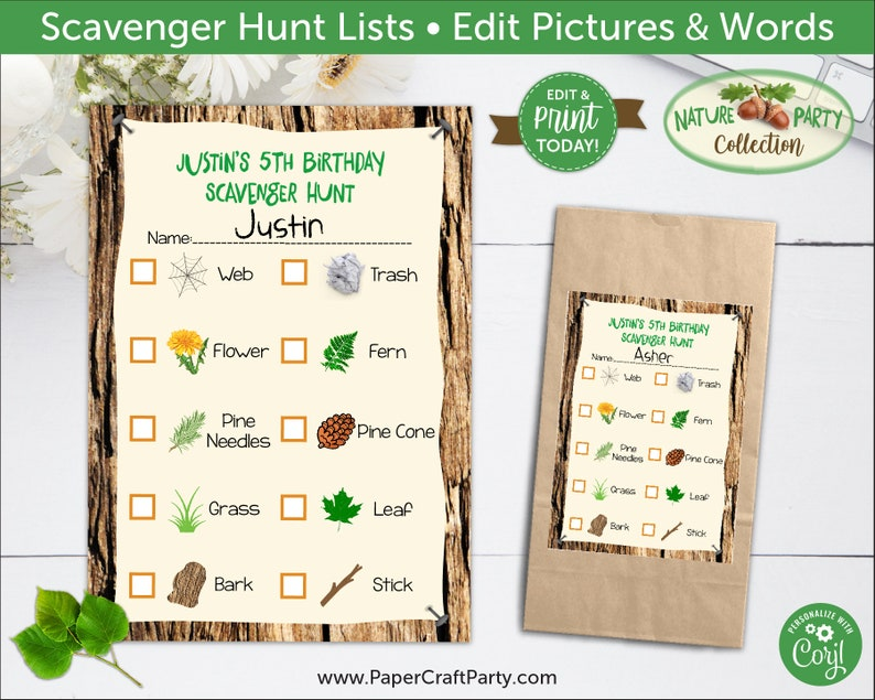 photograph about Nature Scavenger Hunt List Printable identify Scavenger Hunt Printable Lists with Editable Images Terms, Mother nature, Woodland Celebration, Edit On the internet + Down load Currently With Free of charge