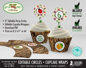 Scavenger Hunt Party Printable Circles & Cupcake Wrappers, Gift Tags, Edit Online + Download Today With Free Corjl.com 0039