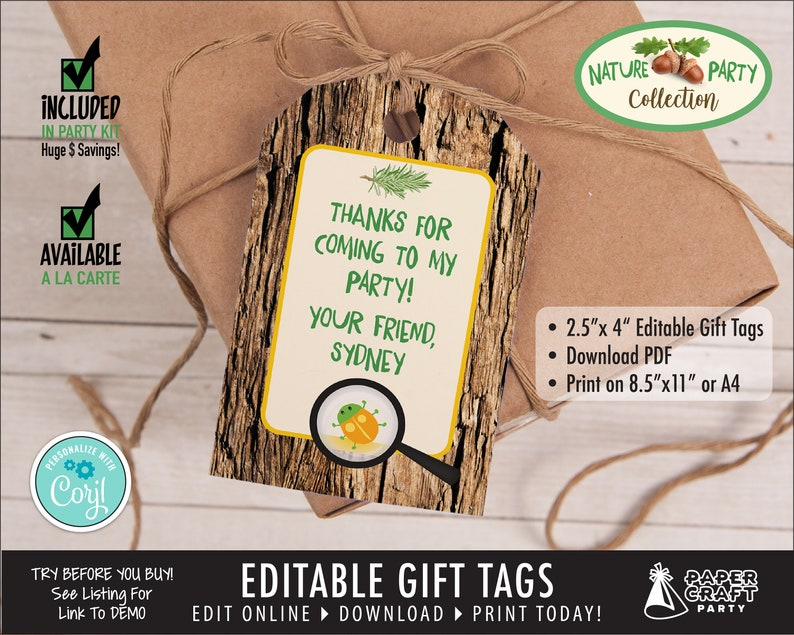 Scavenger Hunt Gift Tags Party Printable Birthday Gift Tags image 0