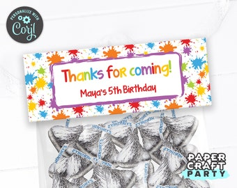 Art Paint Party Treat Bag Topper, Goodie Bag, Edit Online + Download Today With Free Corjl.com APR