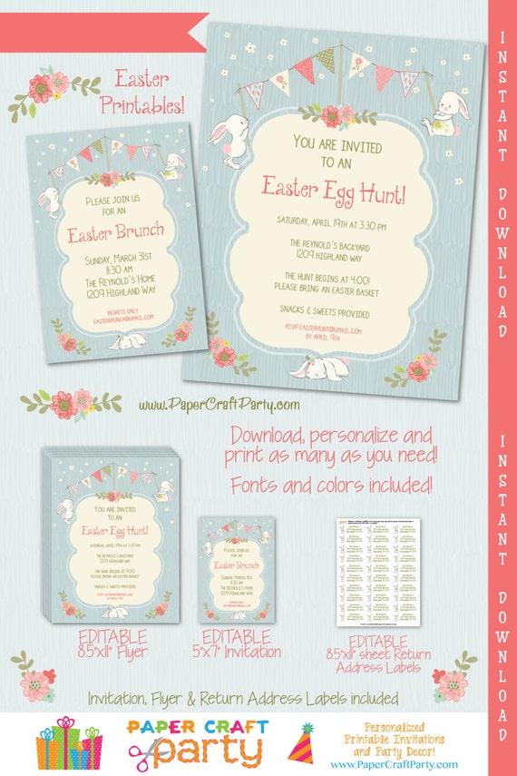 easter invitation easter egg hunt invitation easter brunch