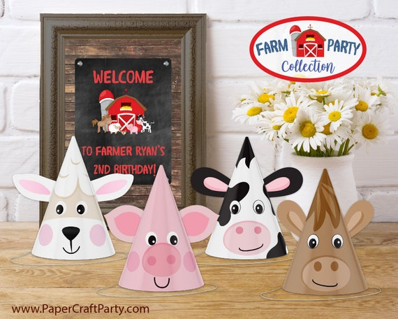 graphic regarding Printable Cow Hat identified as Farm Animal Get together Hats, Printable Social gathering Hats, Cow, Horse