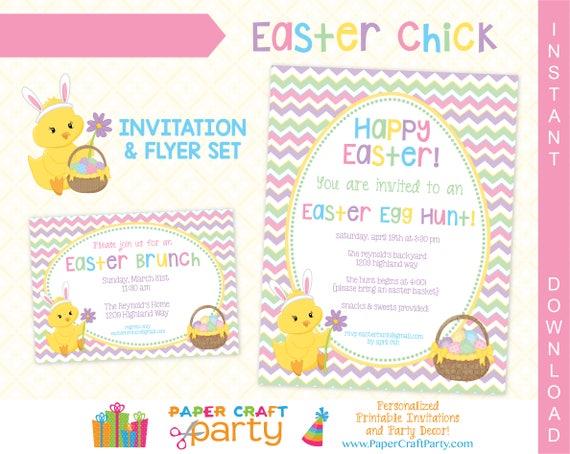 easter printable invitation easter egg hunt invitation easter