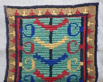 Vintage embroidered panel