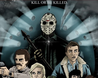 Friday the 13th Part 6 JASON LIVES! alternative movie poster print horror Jason Voorhees