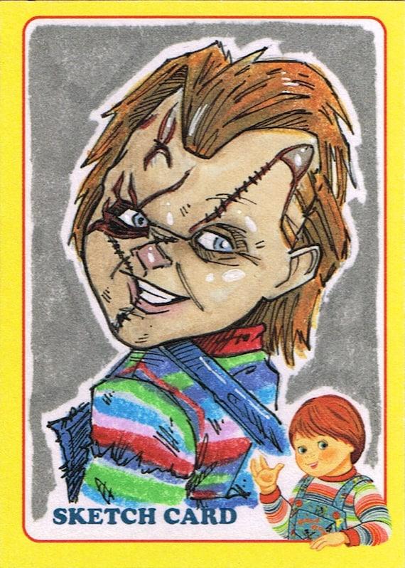Official Fright-Rags Chucky Art Sketch Card Artist Pick