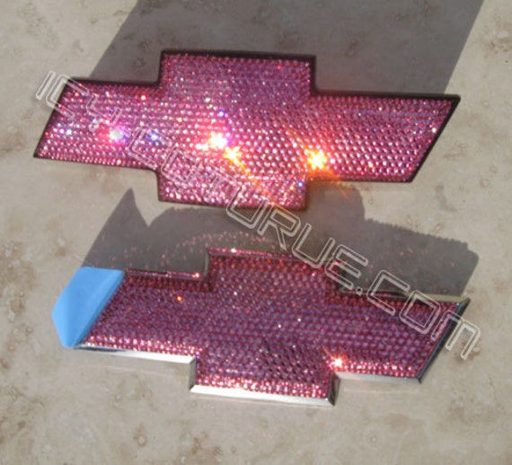 Bling Chevy Bow Tie Emblems In Your Crystal Color