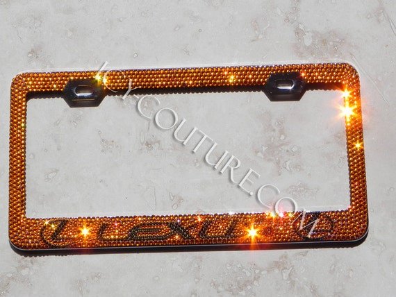 LEXUS Custom Swarovski Crystal Bling License Plate Frames | Etsy