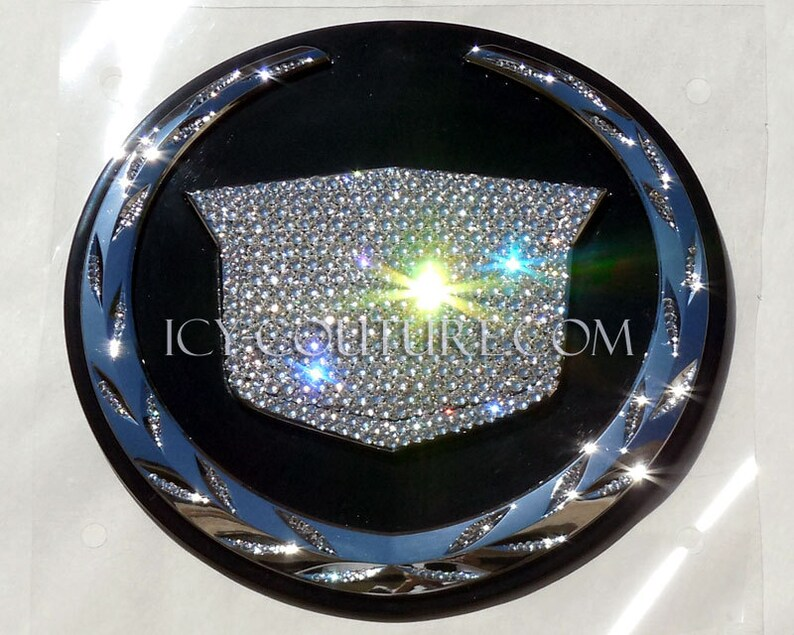 ea252d9cd6a DIAMOND ICE BLING Cadillac Emblem Swarovski Crystals