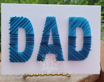 Paper Quilling Dad Wall Décor/ Father's Day Gift/ Gift For Dad/ Wall Décor/ Gift For Father From Kids/ Quilling Wall Décor/ Dad Wall Décor