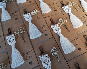 15 pcs Macrame Keychain - Wedding / Baby Shower / Birthday Gift