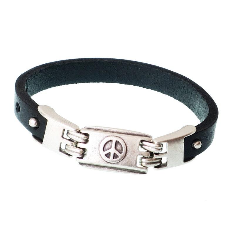 Mashala Sale Shema Bracelet//Shema//Men Shema Bracelet//Pewter Shema//Leather Bracelet//Gift for him