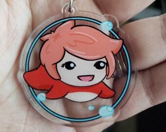 "Ghibli Inspired Ponyo fan art 2"" double-sided acrylic charm keychain"