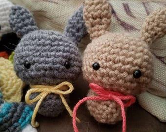 Amigurumi bunny crochet toy plushie keychain gift