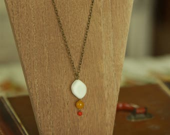 Stone & Jade Pendant Necklace