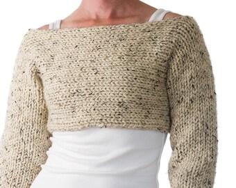 Knitting Pattern - Crop Top Sweater Knitting Pattern - CONTENTMENT
