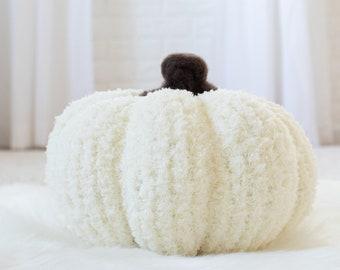 Chenille Pumpkin Knitting Pattern - Small Medium & Large Pumpkin Knitting Patterns