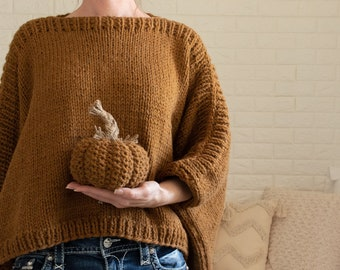 Poncho Knitting Pattern - Easy Two Rectangle Modern Poncho Knitting Pattern for Beginners