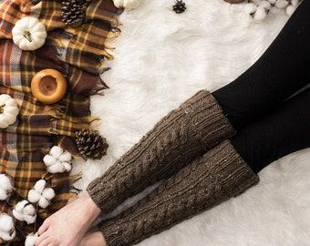 Intentional - Knitting Pattern - Cable Knit Leg Warmers - Brome Fields
