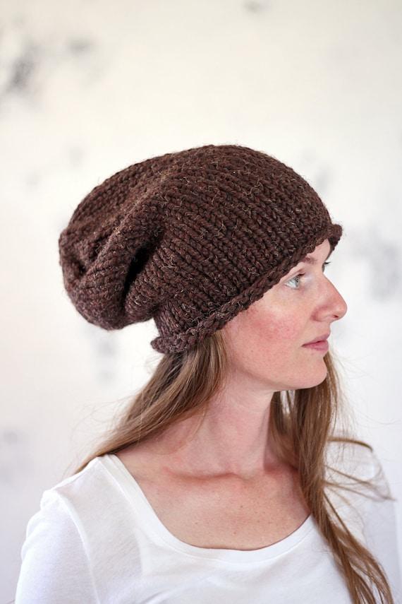 Slouchy Hat Knitting Pattern - BELONGING - Easy Hat Knitting Pattern ...