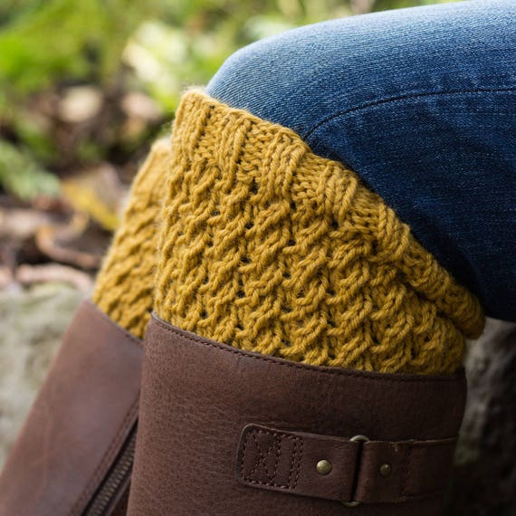 Boot Cuff Knitting Pattern Dignity A Set Of Instructions