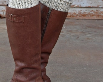 Boot Cuff Knitting Pattern with a cute Button - NOW - a set of instructions to knit the boot cuffs