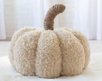 Large Pumpkin Knitting Pattern - Easy Pumpkin Pattern - Oversized Teddy Bear Pumpkin Knitting Pattern