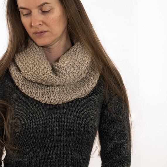 Easy Cowl Knitting Pattern Beauty Scarf Knitting Pattern Etsy