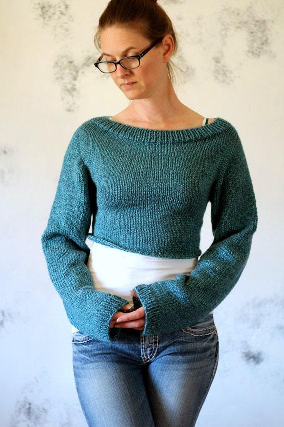 Crop Top Sweater Knitting Pattern Altruism Etsy