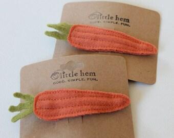 Wool Carrot Hair Pin