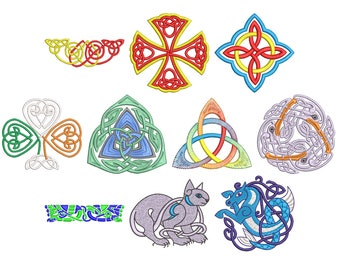 Machine Embroidery Design Instant Download - Celtic Knotwork Collection 6