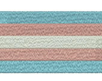 Machine Embroidery Design Instant Download - Transgender Pride Flag
