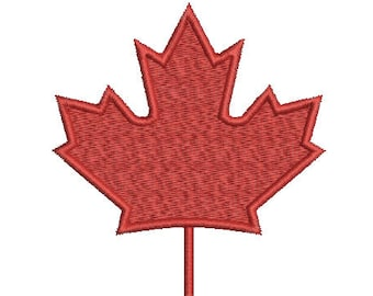 Machine Embroidery Design Instant Download - Canadian Maple Leaf 1