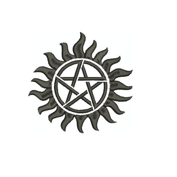 Machine Embroidery Design Supernatural Anti Demon Etsy