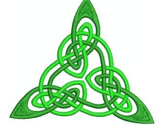 Machine Embroidery Design Instant Download- Celtic Knotwork Triangle 3 (2 tone)