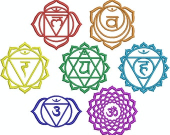 Collection Machine Embroidery Designs Instant Download - Chakra B Collection