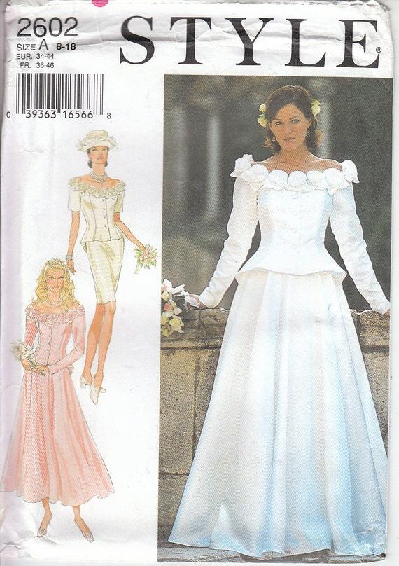 Vintage Stil Schnittmuster Damen Hochzeit Braut Kleid | Etsy