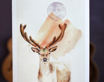 The Deer In You | Greeting card
