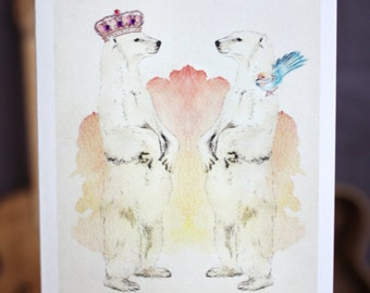 Polar Opposites | Greeting card