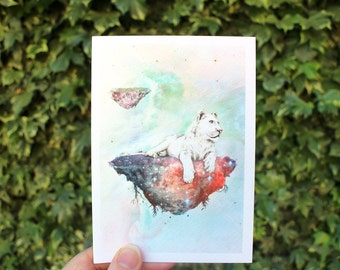 Galaxy Lioness | Greeting card