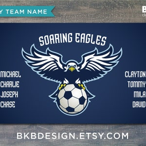Sports Team Banners Team Banners Eagles Custom Vinyl Soccer Team Banner
