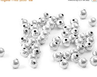 925 Sterling Silver Rondelle Donut Beads 4mm Seamless Round Bulk Item Spacer Beads Findings- Jewelry Making Beads Wholesale
